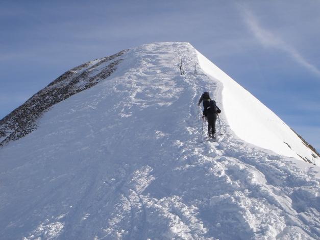 Foto: Manfred Karl / Ski Tour / Über die Gwechenberghütte auf den Sonntagskogel / Gipfelgrat / 30.01.2009 23:05:28