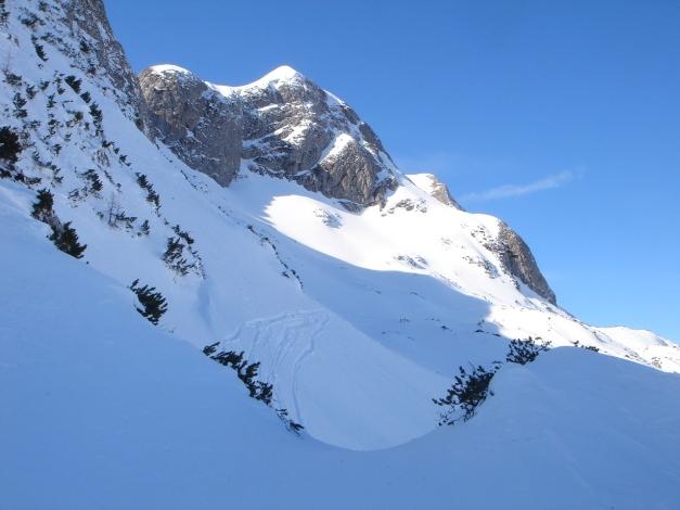 Foto: Manfred Karl / Ski Tour / Über die Gwechenberghütte auf den Sonntagskogel / Querung unterhalb vom Sonntagskogel Richtung Königswand / 30.01.2009 23:00:57