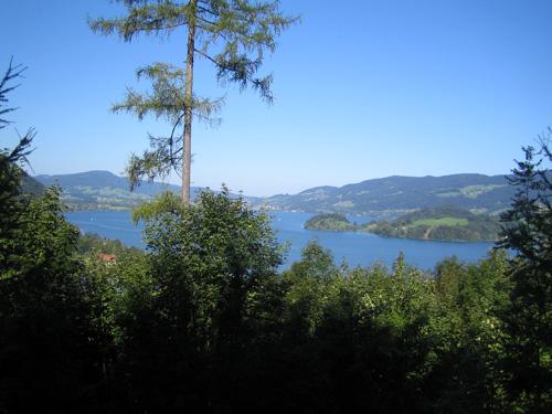 Foto: letsgoactive / Mountainbike Tour / Rund um den Schafberg - über den Falkenstein / Blick auf den Mondsee oberhalb vom Holzinger Bauer / 18.04.2007 15:56:59