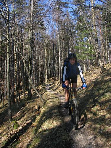 Foto: Lenswork.at / Ch. Streili / Mountainbike Tour / Über die Salinenwege auf die Kaitlalm / 15.03.2007 22:02:01