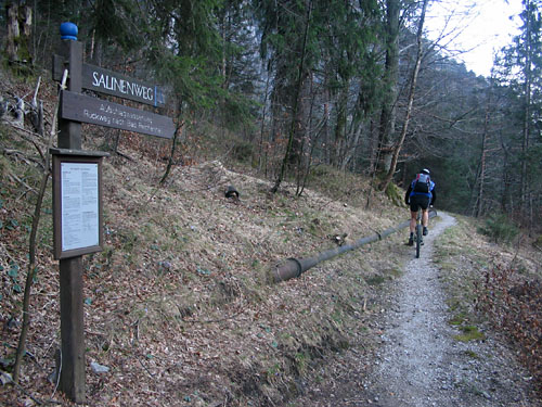 Foto: Lenswork.at / Ch. Streili / Mountainbike Tour / Über die Salinenwege auf die Kaitlalm / 15.03.2007 22:01:20