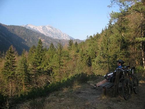 Foto: Lenswork.at / Ch. Streili / Mountainbike Tour / Über die Salinenwege auf die Kaitlalm / 15.03.2007 22:01:03