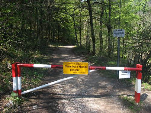 Foto: Lenswork.at / Ch. Streili / Mountainbiketour / Über die Glasenbachklamm auf die Fageralm / Glasenbachklamm derzeit wegen Holzarbeiten gesperrt! / 23.04.2007 22:54:08