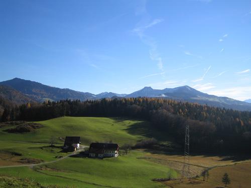 Foto: Hari M. / Mountainbiketour / Über die Glasenbachklamm auf die Fageralm / Unterhalb der Schönalm mit Blick Richtung Osterhorngruppe / 28.12.2006 10:43:17