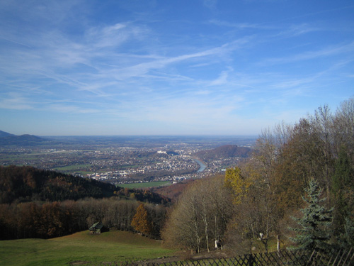 Foto: Hari M. / Mountainbiketour / Über die Glasenbachklamm auf die Fageralm / Blick von der Fageralm Richtung Salzburg / 28.12.2006 10:40:21