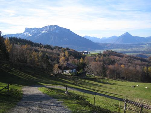 Foto: Hari M. / Mountainbiketour / Über die Glasenbachklamm auf die Fageralm / Blick von der Fageralm Richtung Untersberg / 28.12.2006 10:37:18