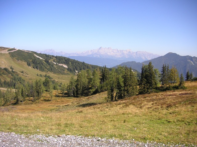 Foto: Salzprinz / Mountainbiketour / Flachau - Frauenalm - Griessenkar / Frauenalm mit Dachstein / 09.01.2007 00:01:21