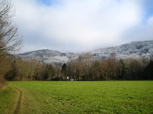 Foto: letsgoactive / Mountainbike Tour / Von Salzburg/Aigen auf den Gaisberg / Anfahrt zum Gaisberg beim Schloss Aigen / 05.01.2007 18:17:55