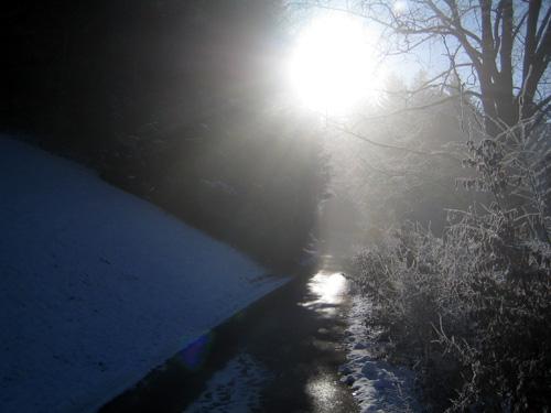 Foto: letsgoactive / Mountainbike Tour / Von Salzburg/Aigen auf den Gaisberg / Kurz vor der Ausfahrt auf die Gaisbergstrasse / 05.01.2007 18:20:19