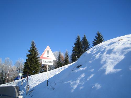 Foto: letsgoactive / Mountainbike Tour / Von Salzburg/Aigen auf den Gaisberg / 500m vor der Zistelalm / 05.01.2007 18:21:28
