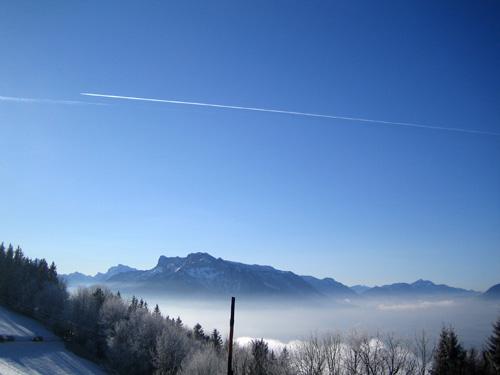 Foto: letsgoactive / Mountainbike Tour / Von Salzburg/Aigen auf den Gaisberg / Blick in Richtung Untersberg / 05.01.2007 18:21:57