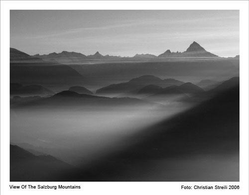 Foto: Lenswork.at / Ch. Streili / Wander Tour / Von Parsch über die Trasse auf die Gaisbergspitze / Blick vom Gaisberg Richtung Watzmann / 19.01.2007 21:09:20