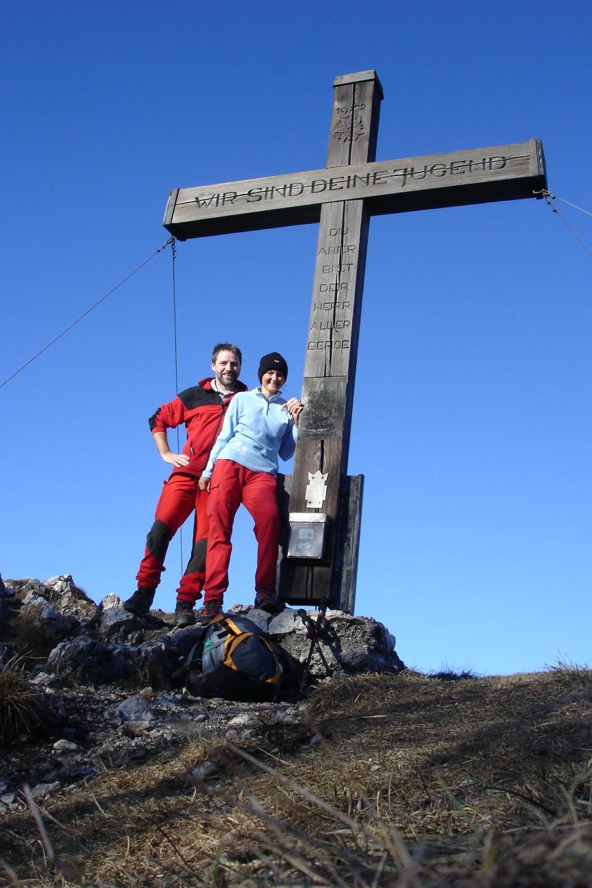 Foto: Werner / Wander Tour / Über die Mollnerhütte auf das Dürre Eck / Am Gipfel / 02.01.2007 20:41:01