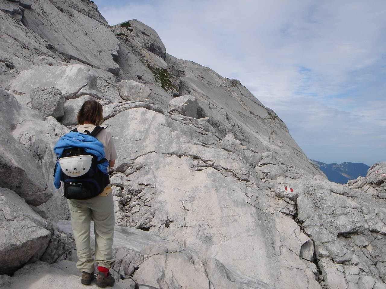 Foto: Manfred Karl / Wander Tour / Auf den Zwölfer über den Grießkarsteig / Hier muss man genau auf die Markierung achten. / 18.05.2007 14:34:52