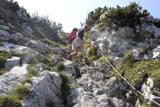 Foto: Werner / Wander Tour / Über den Hans-Hernler-Steig auf den Traunstein, über den Naturfreundesteig herunter / Hernlersteig / 02.01.2007 20:20:44