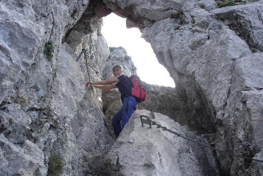Foto: Werner / Wander Tour / Über den Hans-Hernler-Steig auf den Traunstein, über den Naturfreundesteig herunter / Naturfreundesteig / 02.01.2007 20:22:35