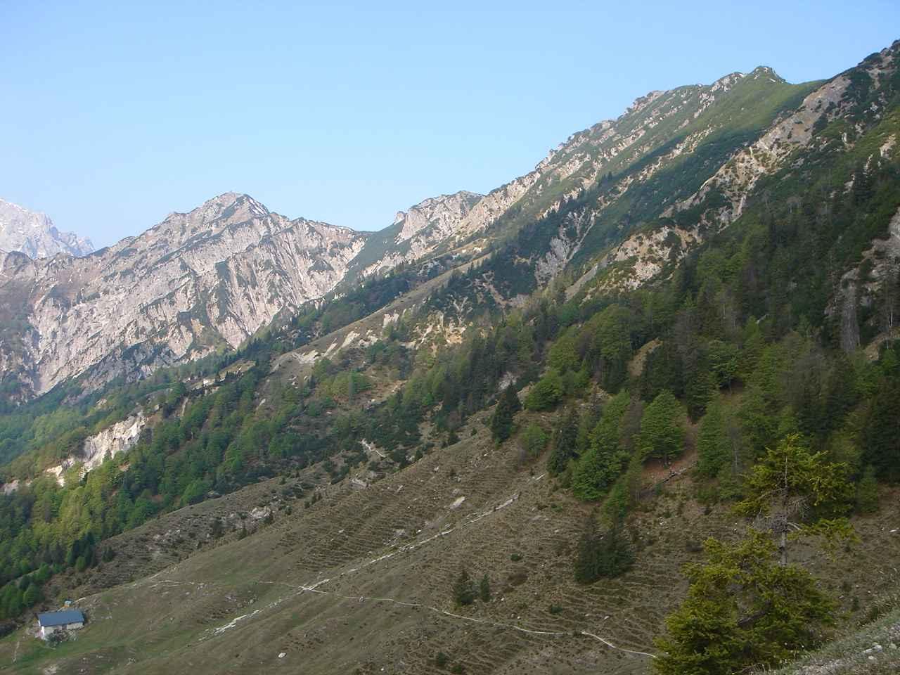 Foto: Manfred Karl / Wander Tour / Aus dem Kaiserbachtal auf den Feldberg / Stripsenkopf und Feldberg kurz oberhalb der Ranggenalm. / 05.05.2007 21:41:08