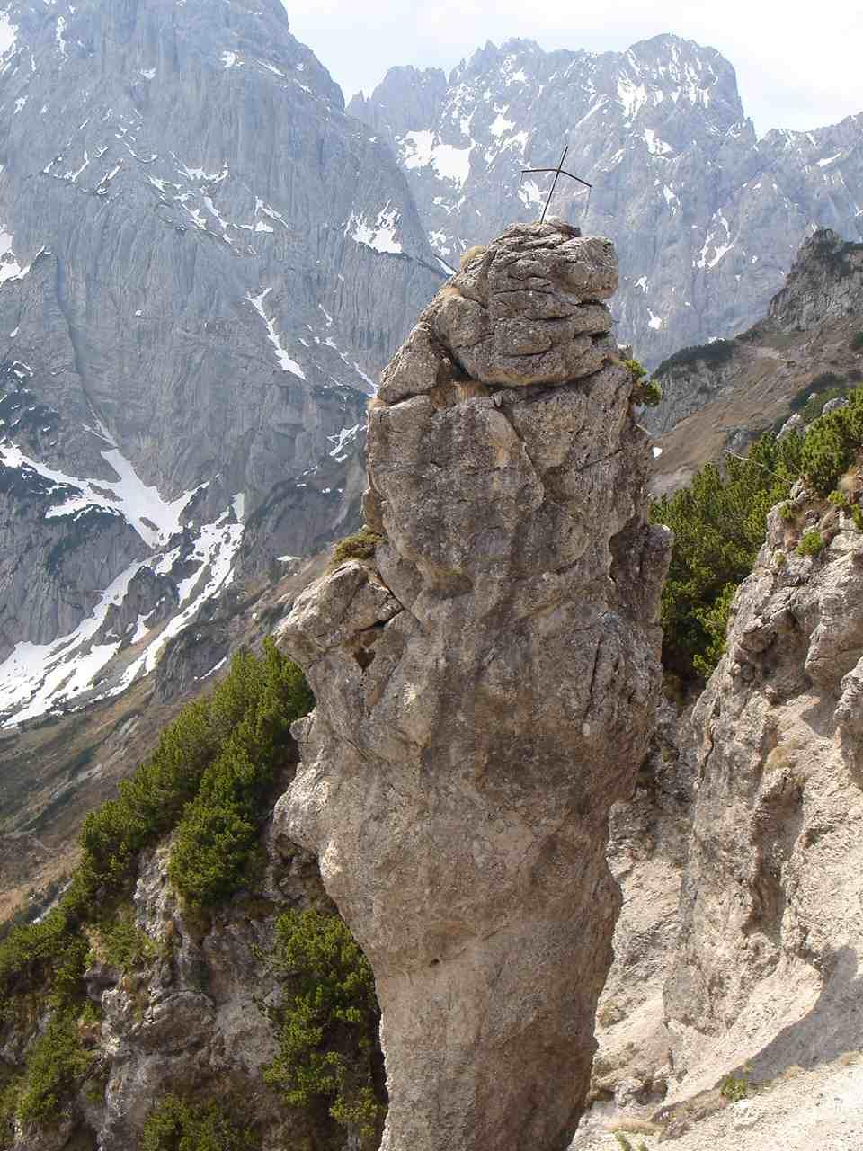 Foto: Manfred Karl / Wander Tour / Aus dem Kaiserbachtal auf den Feldberg / Frankenländer Nadel am Weg zwischen Tristecken und Stripsenkopf. / 05.05.2007 21:28:32
