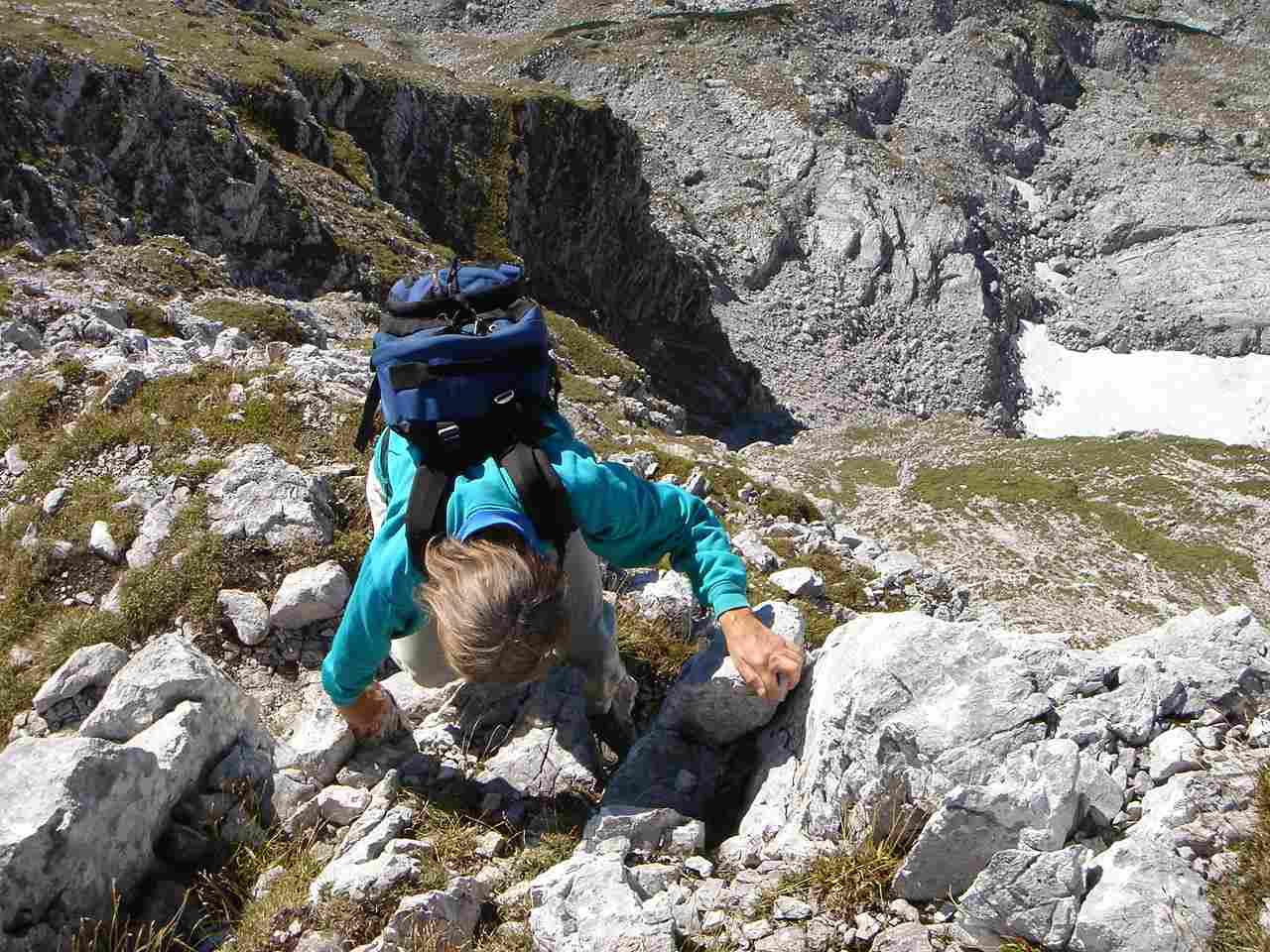 Foto: Manfred Karl / Wander Tour / Warscheneck über den SO-Grat / Am Südostgrat gibt´s einige luftige Stellen. / 05.05.2007 20:53:48
