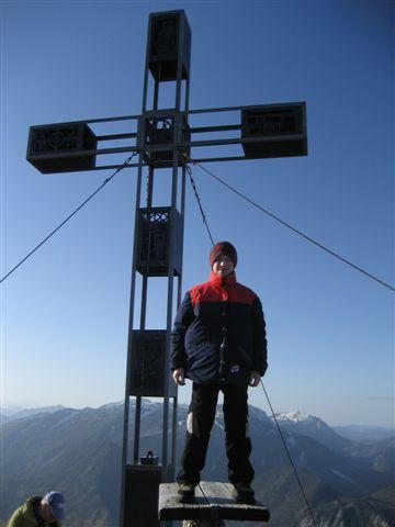 Foto: Jogal / Wander Tour / Von Ebensee auf den Erlakogel / Das Gipfelkreuz / 11.01.2007 08:07:32