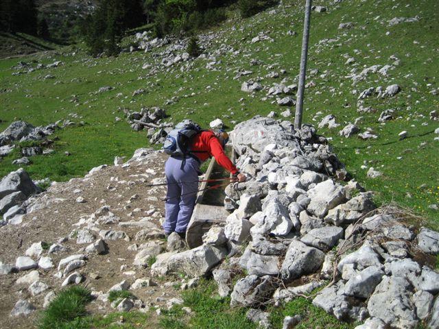 Foto: Jogal / Wander Tour / Überschreitung der Hohen Schrott / Brombergalm, Die letzte Wasserversorgungsstelle / 22.05.2007 06:05:03