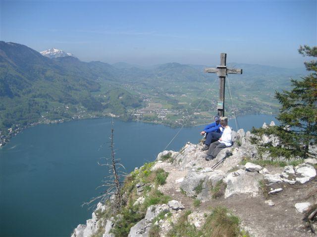 Foto: Alpinfreunde / Wander Tour / Kleiner Schönberg bei Gmunden / Am Gipfel des kleinen Schönberg / 10.01.2007 18:44:20