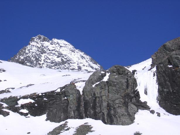 Foto: Andreas Koller / Wander Tour / Großglockner-Überschreitung von Kärnten nach Osttirol als Tagestour (3798 m) / Abstieg über das Osttiroler Ködnitz Kees / 01.02.2007 02:21:35