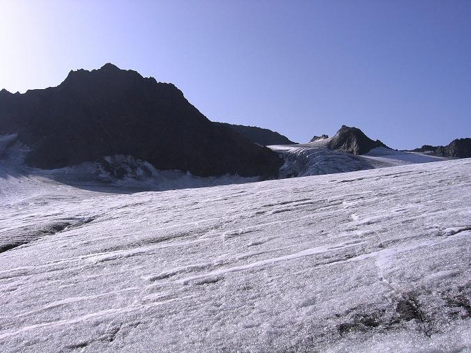Foto: Andreas Koller / Wander Tour / Ruderhofspitze - eine anspruchsvolle Gletschertour im Stubai (3474 m) / Am Alpeiner Ferner / 08.08.2007 13:25:58