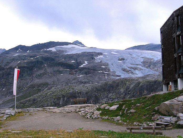 Foto: Andreas Koller / Wander Tour / Stubacher Sonnblick (3088 m) / Blick von der Rudolfshütte auf das Sonnblickkees, Granatspitze (3086 m) und Stubacher Sonnblick / 17.08.2007 13:19:09