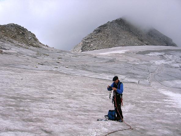 Foto: Andreas Koller / Wander Tour / Stubacher Sonnblick (3088 m) / Unterhalb der Granatscharte mit Blick auf den Sonnblick S-Grat / 17.08.2007 13:16:40