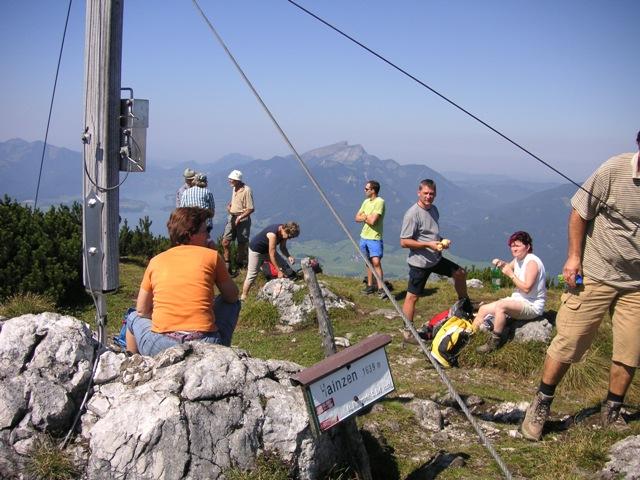 Foto: Salzprinz / Wandertour / Überschreitung des Katergebirges / Hainzen, Blick Ri. Wolfgangsee / 08.01.2007 23:26:39