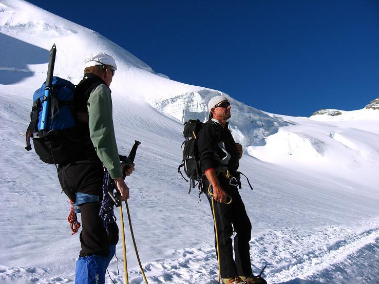 Foto: Andreas Koller / Wander Tour / Allalinhorn - Modeberg über Saas Fee (4027 m) / In den Eisbrüchen nach dem Mittelallalin / 09.08.2007 14:52:48
