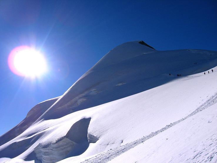 Foto: Andreas Koller / Wander Tour / Allalinhorn - Modeberg über Saas Fee (4027 m) / Das Allalinhorn von N / 09.08.2007 14:53:02