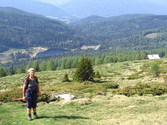 Foto: Andreas Koller / Wandertour / Preber und Golzhöhe (2740 m) / Aufstieg von der Preberhalterhütte mit Prebersee / 09.05.2007 17:14:36