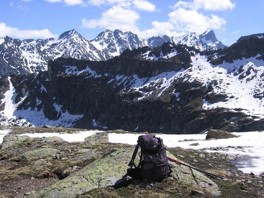Foto: Andreas Koller / Wander Tour / Aachener Höhenweg und Atemkogel (3010 m) / Blick auf den Glockturm (3353 m) / 10.05.2007 17:30:52