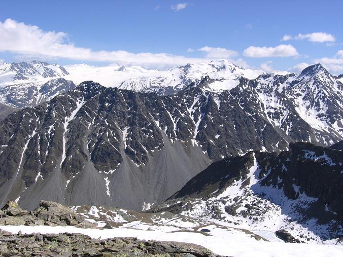 Foto: Andreas Koller / Wander Tour / Aachener Höhenweg und Atemkogel (3010 m) / Blick auf den Gepatschferner / 10.05.2007 17:31:46