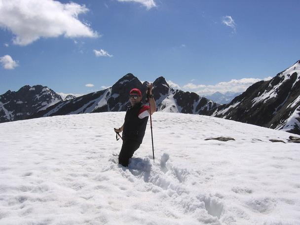 Foto: Andreas Koller / Wander Tour / Aachener Höhenweg und Atemkogel (3010 m) / Schneegipfel Atemkogel / 10.05.2007 17:32:58