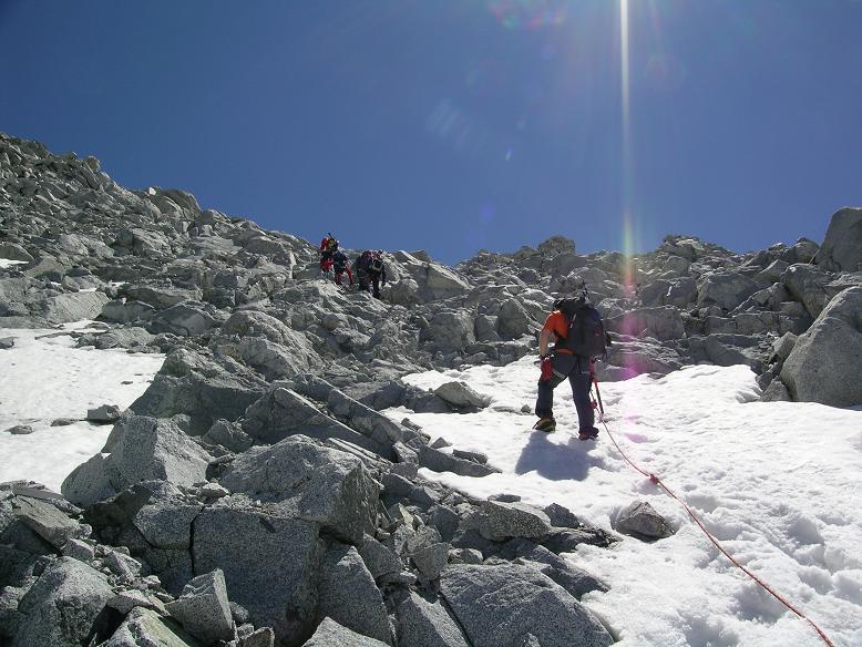 Foto: Andreas Koller / Wander Tour / Cresta Croce und Cannone 149 (3330 m) / Steiler, kombinierter Anstieg auf die Cresta Croce / 15.05.2007 23:36:20