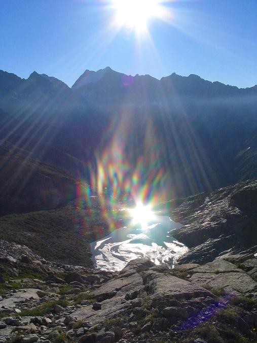 Foto: Andreas Koller / Wander Tour / Cresta Croce und Cannone 149 (3330 m) / Seenauge nahe der Hütte / 15.05.2007 23:37:43