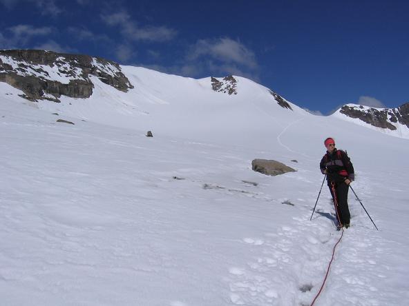 Foto: Andreas Koller / Wandertour / Oberwalderhütte und Überschreitung des Mittleren Bärenkopfes (3358 m) / In der Bockkar Scharte / 28.05.2007 23:44:14