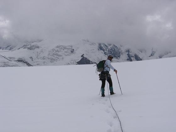 Foto: Andreas Koller / Wander Tour / Aus dem Fornokessel auf den Palon de la Mare (3703 m) / Der weite Forno-Gletscher / 28.05.2007 11:10:08