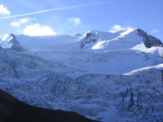 Foto: Andreas Koller / Wander Tour / Aus dem Fornokessel auf den Palon de la Mare (3703 m) / Oberer Forno-Gletscher / 28.05.2007 11:13:32