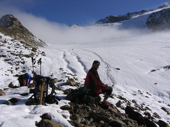 Foto: Andreas Koller / Wander Tour / Aus dem Fornokessel auf den Palon de la Mare (3703 m) / Aufstieg über den Forno-Gletscher / 28.05.2007 11:13:06