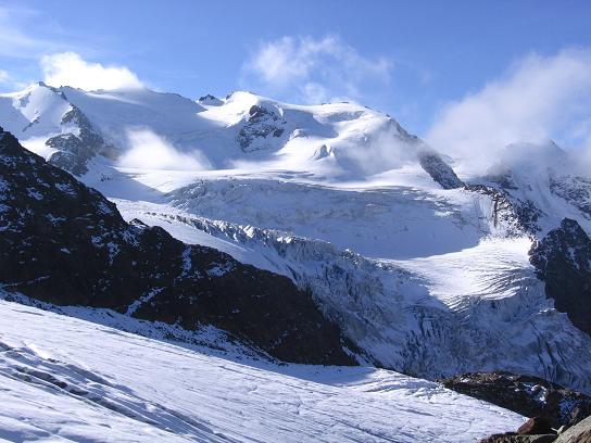 Foto: Andreas Koller / Wander Tour / Aus dem Fornokessel auf den Palon de la Mare (3703 m) / Der Forno-Gletscher / 28.05.2007 11:12:49