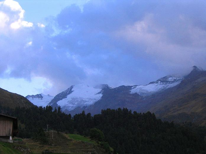 Foto: Andreas Koller / Wander Tour / Familienwanderung hoch über Obergurgl (2653 m) / Der Talschluss des Gurgler Tales mit Großem Ramolkogel (3550 m) / 29.08.2007 23:42:11