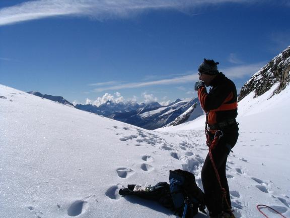 Foto: Andreas Koller / Wandertour / Über die Nordflanke auf den Großen Bärenkopf (3406 m) / In der Oberen Bockkarscharte (Keilscharte) / 02.06.2007 01:04:17