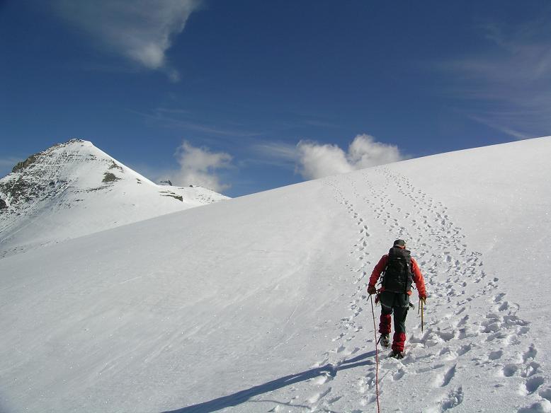 Foto: Andreas Koller / Wandertour / Über die Nordflanke auf den Großen Bärenkopf (3406 m) / Westliches Bärenkopfkees und Klockerin (3419 m) / 02.06.2007 01:07:22