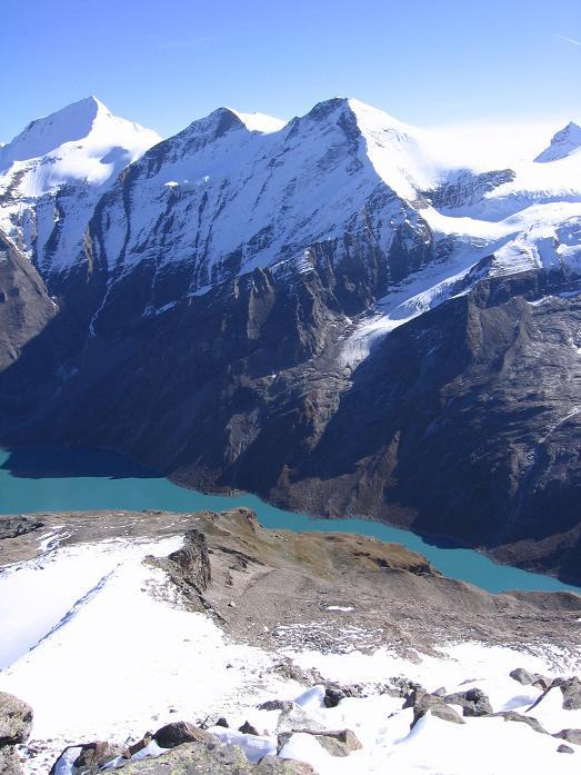 Foto: Andreas Koller / Wander Tour / Über den Sedlgrat auf den Kleinen- und Großen Grießkogel (3066 m) / Speicher Mooserboden und Wasserfallboden und Hoher Tenn (3368 m)  / 08.06.2007 20:47:14