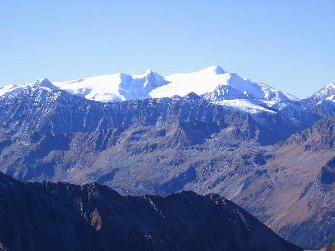 Foto: Andreas Koller / Wander Tour / Alexander-Enzinger-Weg und Tristkogel (2642 m) / Blick nach W auf den Großvenediger (3674 m) / 02.06.2007 10:40:34