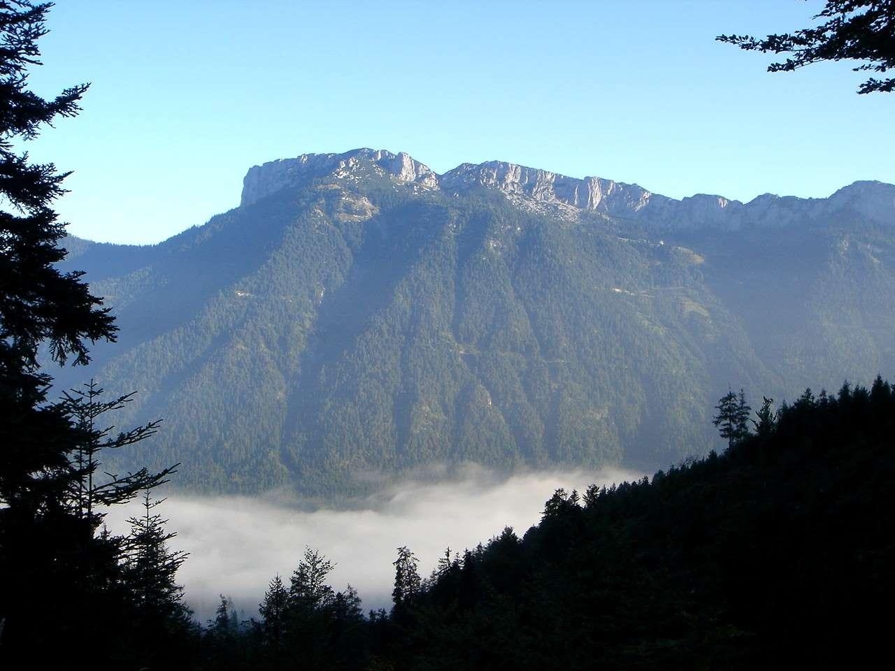 Foto: Manfred Karl / Wander Tour / Von Waidring auf den Brunnkopf / Während des Aufstiegs eröffnen sich immer wieder schöne Ausblicke auf die gegenüberliegenden Wände der Steinplatte. / 17.05.2007 20:29:48